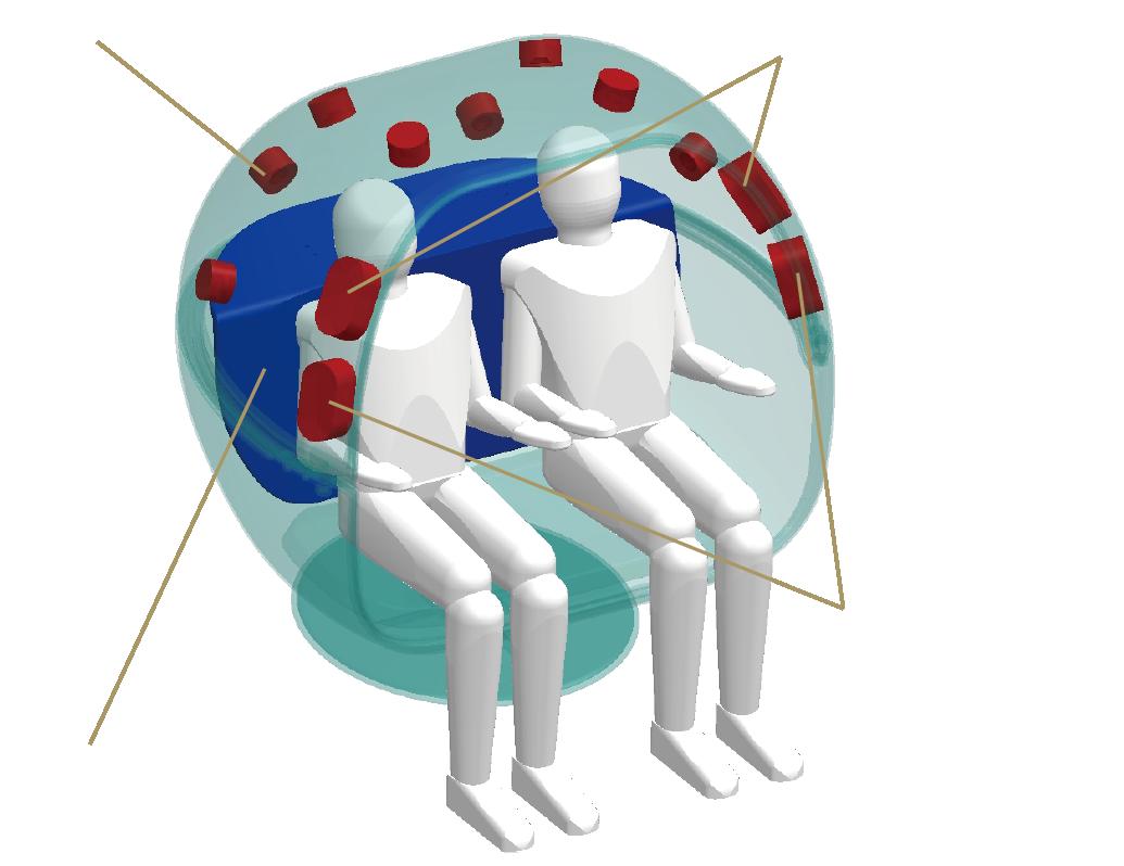 VRSW1のスピーカーユニット配置イメージ図